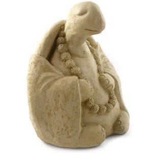 Modern Artisans Meditating Turtle - Cast Stone Garden Sculpture