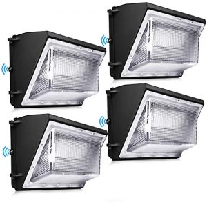 120W LED Wall Pack Light - 4 Pack Dusk To Dawn With Photocell