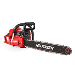 HUYOSEN Gas Power Chain Saws Red Black Corded 2 Cycle Gas Powered Chainsaw