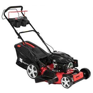 """oneinmil Self Propelled Lawn Mower -Gas 21"""". 4-in-1 Rear Wheel Drive"""