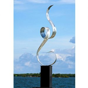 Statements2000 Silver Abstract Metal Art - Large Freestanding Sculpture