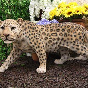 Ebros Large Realistic Lifelike South American Giant Cat Prowling Jaguar Statue