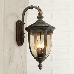 Bellagio Vintage Outdoor Wall Light Fixture Bronze Metal
