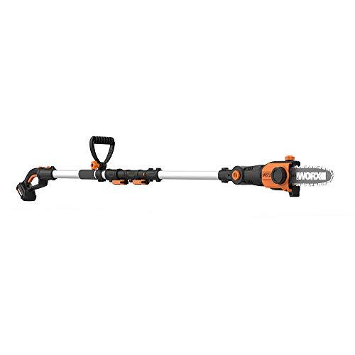 WORX 2-in-1 Attachment Capable 20V Pole Saw, Black and Orange