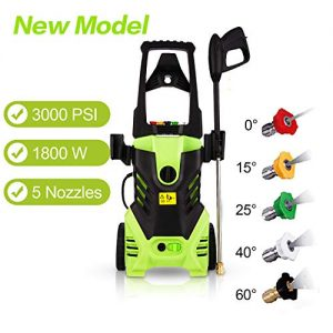 Homdox Electric Pressure Power Washer 3000PSI 1.8GPM Gas High Pressure Power