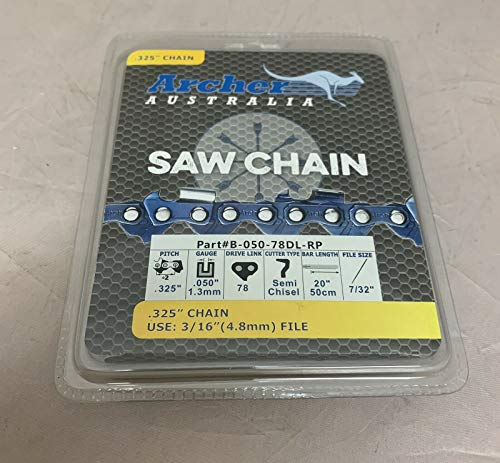 """Archer 20"""" Ripping Chainsaw Chain Replaces Husqvarna Jonsered"""