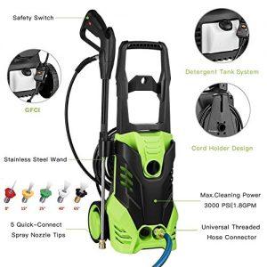 Homdox 3000 PSI Electric Pressure Washer 1800W High Pressure Power Washer