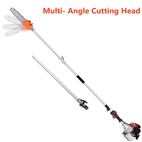 MAXTRA Degree Head Adjustable Pole Chainsaw for Tree Trimming