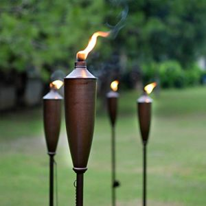 Deco Home Tikki Torch Set of 4 Tikki Torch - 60inch Citronella Garden Outdoor