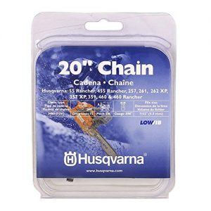 "Husqvarna Chainsaw Chain 20"" .050 Gauge 3/8 Pitch Low Kickback Low-Vibration"