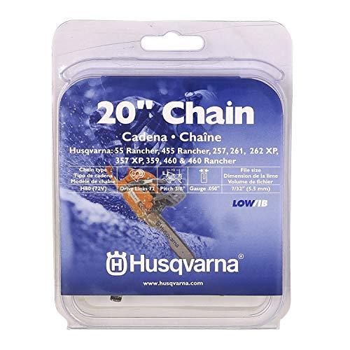 "Husqvarna Chainsaw Chain 20"" .050 Gauge 3/8 Pitch Low Kickback Low-Vibration"