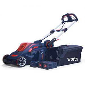 Worth PowerMax 84-Volt Lithium Battery Self-propelled Lawn Mower Cordless