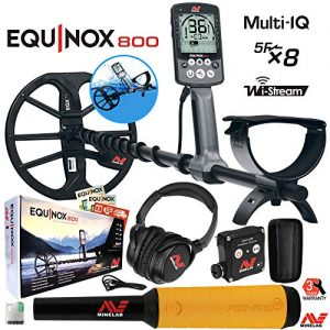 Minelab Equinox 800 Multi-IQ Underwater Metal Detector & Pro-Find