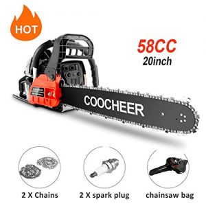 "couply Powerful Gas Chainsaw, 20"" Chain Saw Cordless Gas Powered Chainsaw"