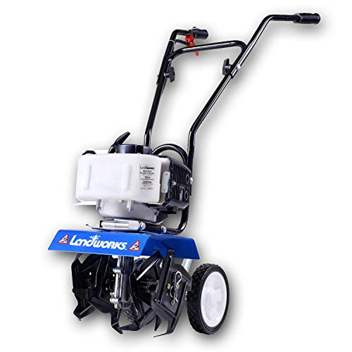 Landworks Mini Tiller Cultivator Super Duty 3HP 52cc 2 Stroke Gas Motor