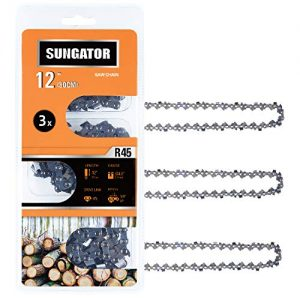 "SUNGATOR 3-Pack 12 Inch Chainsaw Chain , 3/8"" LP Pitch - .043"" Gauge"