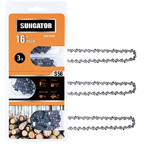 SUNGATOR 3-Pack 16 Inch Chainsaw Chain