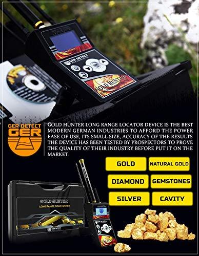GER DETECT Gold Hunter Professional Geolocator Long Range Metal Detector
