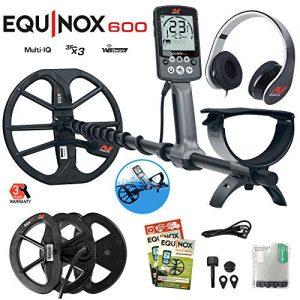 "Minelab Equinox 600 Metal Detector Bundle with 6"" Equinox"