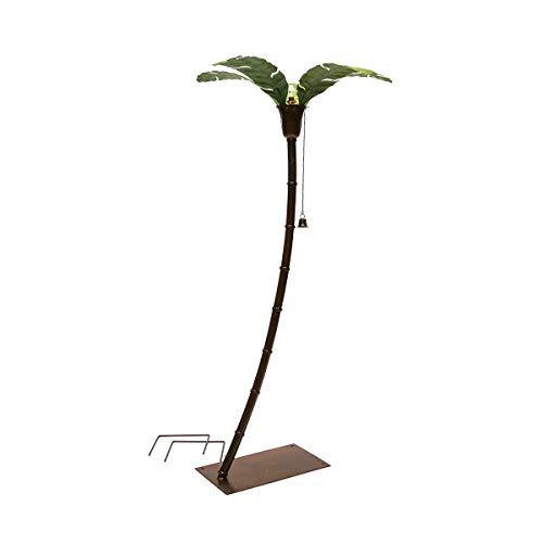 "Desert Steel Asher Palm Tree Garden Torch (68""H) - Metal Lawn Art Torch"