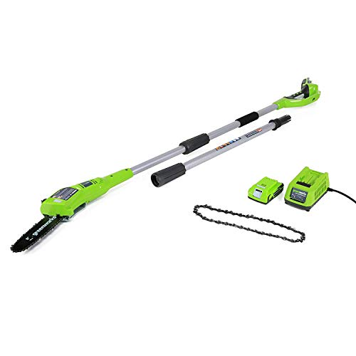 GreenWorks 8-Inch 24V Cordless Pole Saw with Extra Chain