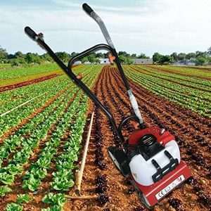 LianDu Mini Garden Tiller Cultivator 2 Stroke Gasoline Powered Soil Garden
