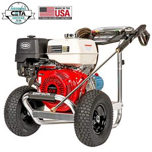 SIMPSON Cleaning Aluminum Gas Pressure Washer Powered