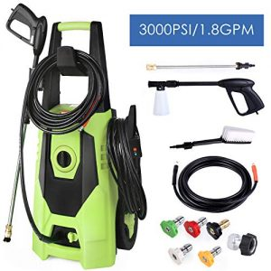 SNAN Pressure Washer, 3000 PSI, 1.8 GPM Electric High Power Pressure