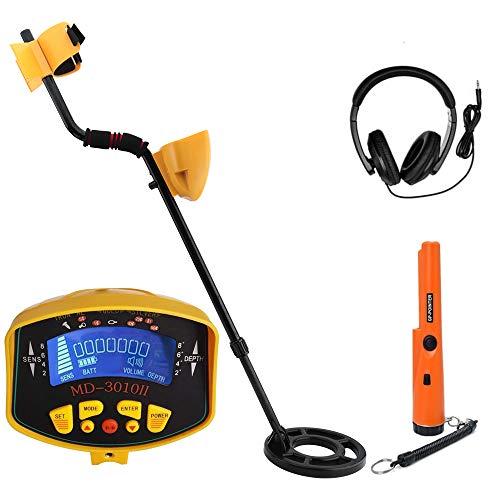 MIQIKO Digital Metal Detector, High-Accuracy Waterproof Metal Finder