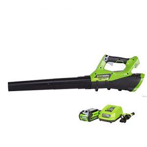 Greenworks 40V Cordless Jet Leaf Blower, 2.0 AH Battery Included
