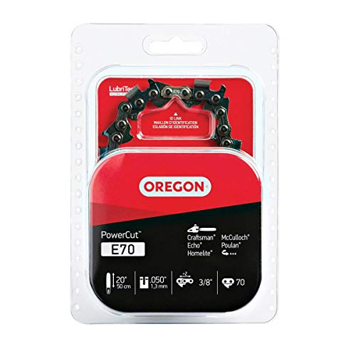 Oregon 20-Inch PowerCut Chainsaw Chain - Fits Echo, McCulloch and More