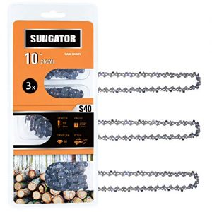 SUNGATOR 3-Pack 10 Inch Chainsaw Chain