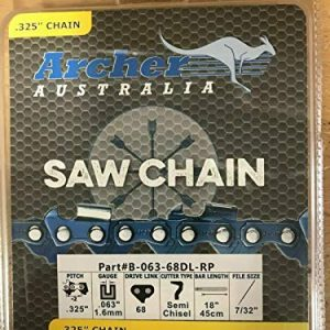 "Archer 18"" Ripping Chainsaw Chain Replaces Stihl"