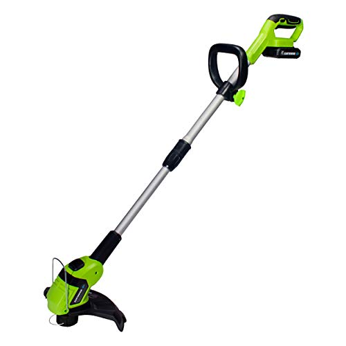Earthwise 20-Volt 10-Inch Cordless String Trimmer, 2.0Ah Battery & Fast Charger