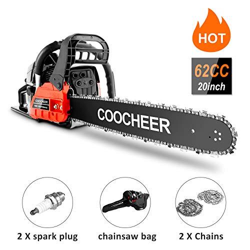 "20"" Chainsaw Powerful Gas Chainsaw 2 Stroke Handed Petrol Chain Saw"