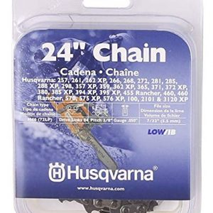 Husqvarna Chainsaw Chain 24-Inch .050 Gauge 3/8 Pitch Low Kickback