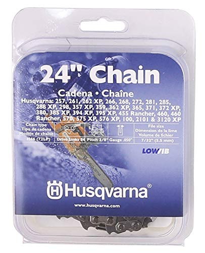 Husqvarna Chainsaw Chain 24-Inch .050 Gauge 3/8 Pitch Low Kickback
