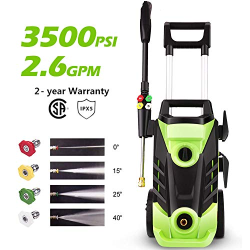 Homdox 3500 PSI Electric Pressure Washer 2.6 GPM High Pressure Washer