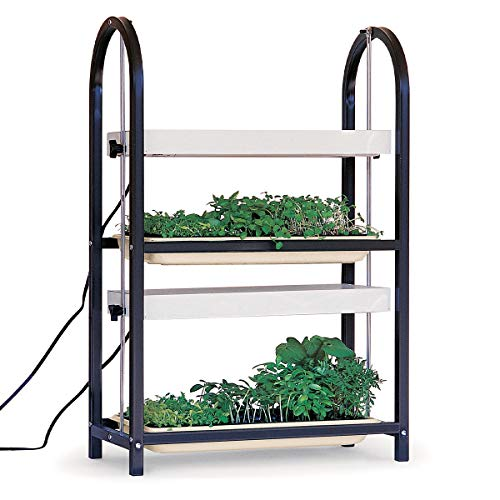 Burpee Home Professional Two Tier Grow Light   Two Wide Spectrum Bulbs