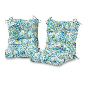 Greendale Home Fashions Outdoor Seat/Back Chair Cushion in Painted Paisley