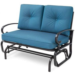 Incbruce Outdoor Swing Glider Rocking Chair Patio Bench for 2 Person