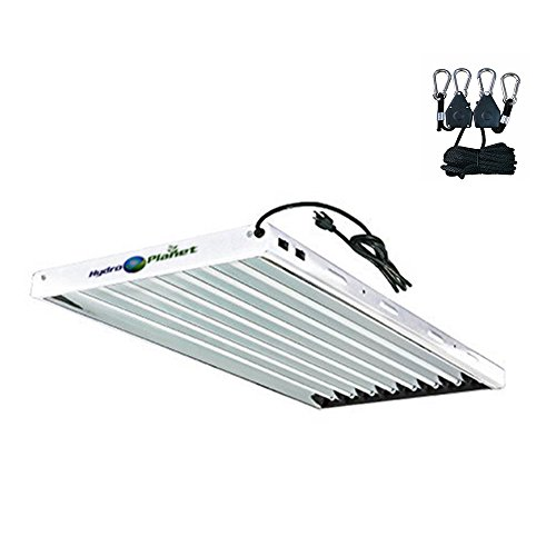 Hydroplanet T5 4ft 8lamp Fluorescent Ho Bulbs Included for Indoor Horticulture