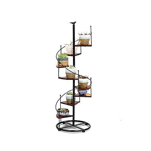 LXJ Flower Stand Outdoor Iron Multi-Layer Step Pot Rack - Decorative Vertical Pot