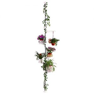 Hershii 5-Layer Indoor Plant Pole Spring Tension Rod Corner Flower Display Rack