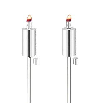 Anywhere Garden Torch - Stainless Steel Cylinder Shape Garden Torch
