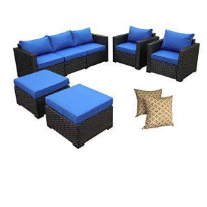 Rattaner Outdoor Wicker Sofa Set -5 Pice Patio PE Rattan Garden Sectional