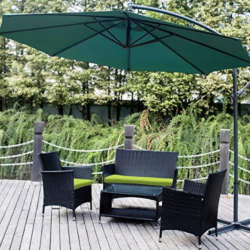 Leisure Zone 4 PCS Patio Furniture Outdoor Garden Conversation Wicker Sofa Set