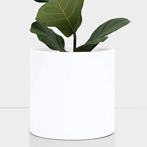 "PEACH & PEBBLE 10"" Ceramic Planter - Large White Plant Pot"