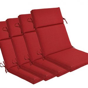BOSSIMA Indoor Outdoor High Back Chair Cushions Replacement Patio Chair Seat