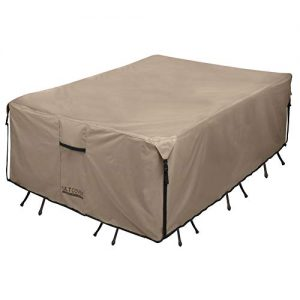 ULTCOVER Rectangular Patio Heavy Duty Table Cover - 600D Tough Canvas